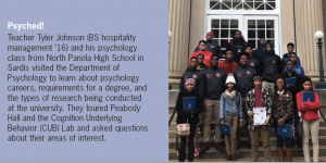 High School Students Visit Psychology Department